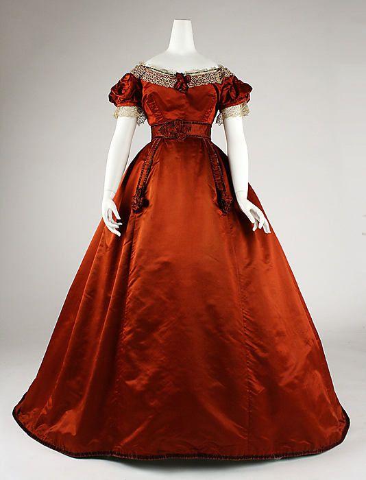 Красное платье 19 века